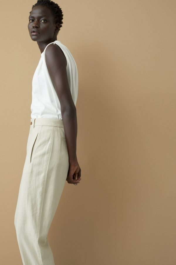 SS21 Closed Ludwig linen viscose trousers