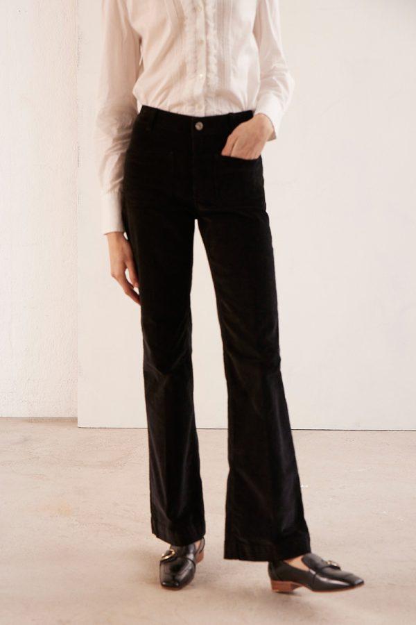 Vanessa Bruno-Dompay black corduroy trousers