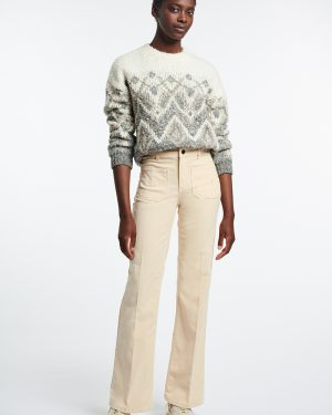Vanessa Bruno- Dompay ivory corduroy trousers